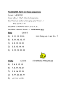 Differentiated Worksheet - nth term by uma07072004 - Teaching ...
