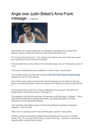 Article - Anger over Justin Bieber's Anne Frank message.docx