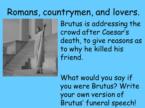 critical analysis of mark antonys funeral speech essay Analysis of julius caesar and then mark antony brutus uses parallelism during his speech after the death of caesar to help the plebeians understand why they.