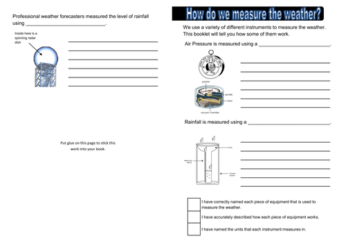 Measuring the Weather PowerPoint Lesson updated by dazayling – Weather Instruments Worksheet