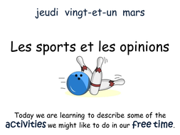 Les sports et les Opinions