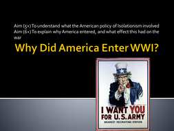 Why did America join WW1