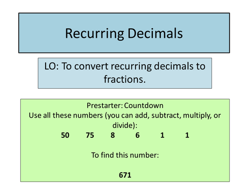 Make Tracing Worksheets Excel Recurring Decimals By Diddyface  Teaching Resources  Tes Free Printable Worksheets For 3rd Grade Math Excel with Halloween Preschool Worksheets Pdf  Naming Alcohols Worksheet Pdf