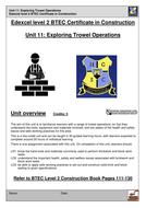 Unit 11 Construction: Trowel Operations