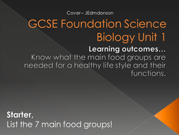 Biology Unit 1 GCSE foundation Level