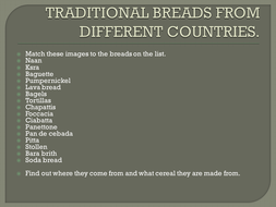 Traditional breads
