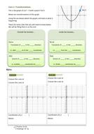 Transformations slides and worksheet