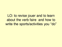 The verb - faire and sports.ppt