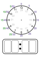 Analog Clock with Minute Guidance