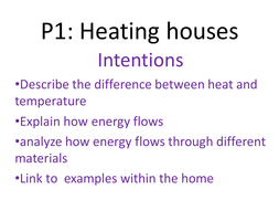 P1: Introduction to heat and temperature