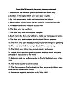 Boer war true or false