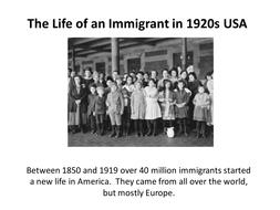 Immigration, Sacco and Vanzetti, intolerance, KKK