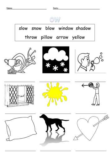 oa and ow (oa) digraph worksheets by barang - Teaching Resources - TES