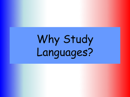 Why Study Languages?