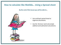 Matilda Math with Spreadsheets