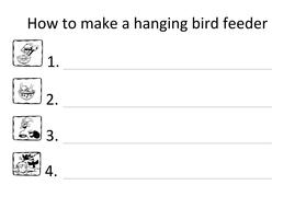 Bird feeder instructions writing frame.docx