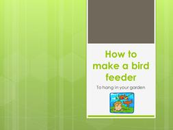 How to Make a Hanging Bird Feeder
