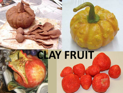 Powerpoint clay fruit