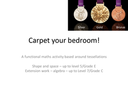 Carpet your bedroom - functional math