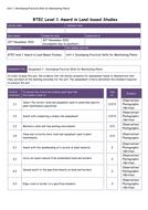 BTEC Land- Based Studies Unit 1,2,3 Assignments