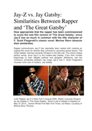JayZ and Gatsby.docx