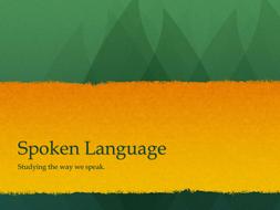 Instant Lesson. Spoken Language: Register
