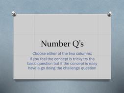 Mixed Number Q's - Basic vs. Challenge