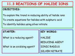 11.3 Reactions of Halide Ions