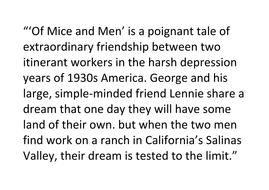 Of Mice and Men - intro lesson blurb.docx