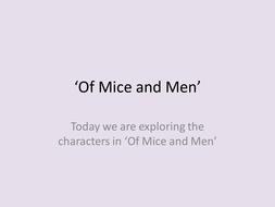 Of Mice and Men active introductory lesson