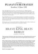 SEN Newspaper Accounts - The Peasants' Revolt.docx