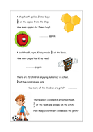 KS2 problem solving fractions worksheet