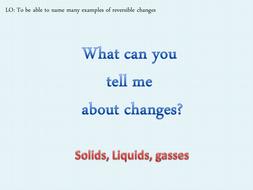 Materials -Changes - KS2 KENT SCHEME OF WORK