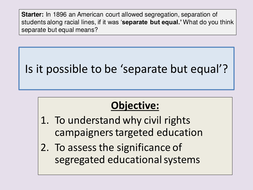 Civil Right Segragation: Seperate but Equal?