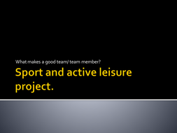 Level 1: Sport and active leisure team work