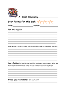Book Review Worksheets