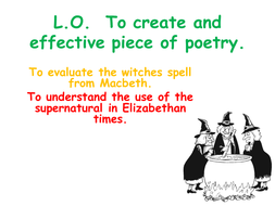 Macbeth: Simple Lesson to Create a Witches' Spell