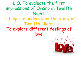 Twelfth Night: Opening Powerpoint Lesson Plan
