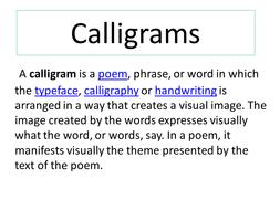 Calligram powerpoint