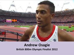 Andrew Osagie at the London 2012 Olympics