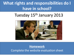 Rights and Responsibilities in School