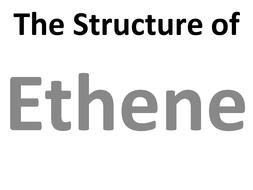 The bonding in ethene