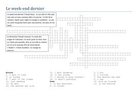 Crossword reading comp - past weekend