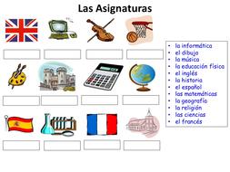 Las Asignaturas basic worksheet