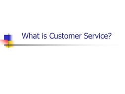 customer service.ppt