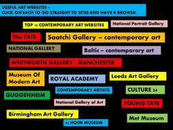 USEFUL ART WEBSITE LINKS