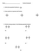 Basic Equivalent Fraction Homework