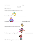 Phonics phase 3 ING words
