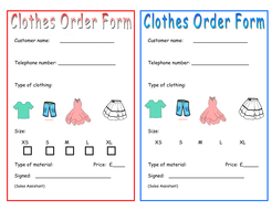 clothes order form.docx