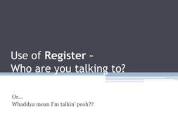 Language Register - Formal or informal?
